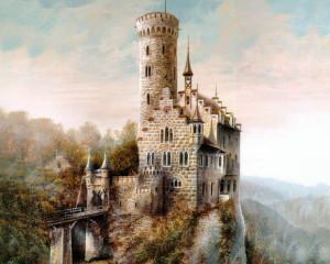 Схема вышивки «Замок»