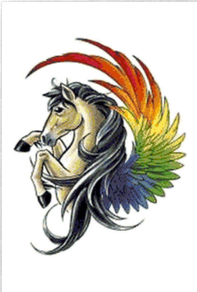 Схема вышивки: Лошадь