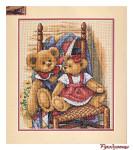 Вышивка: Мишки Тедди на стеганом одеяле