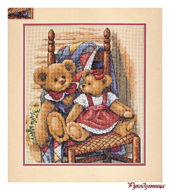 Вышивка: Мишки Тедди на