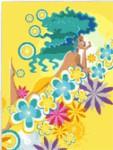 Вышивка «Девушка на облаке из цветов» 22-30