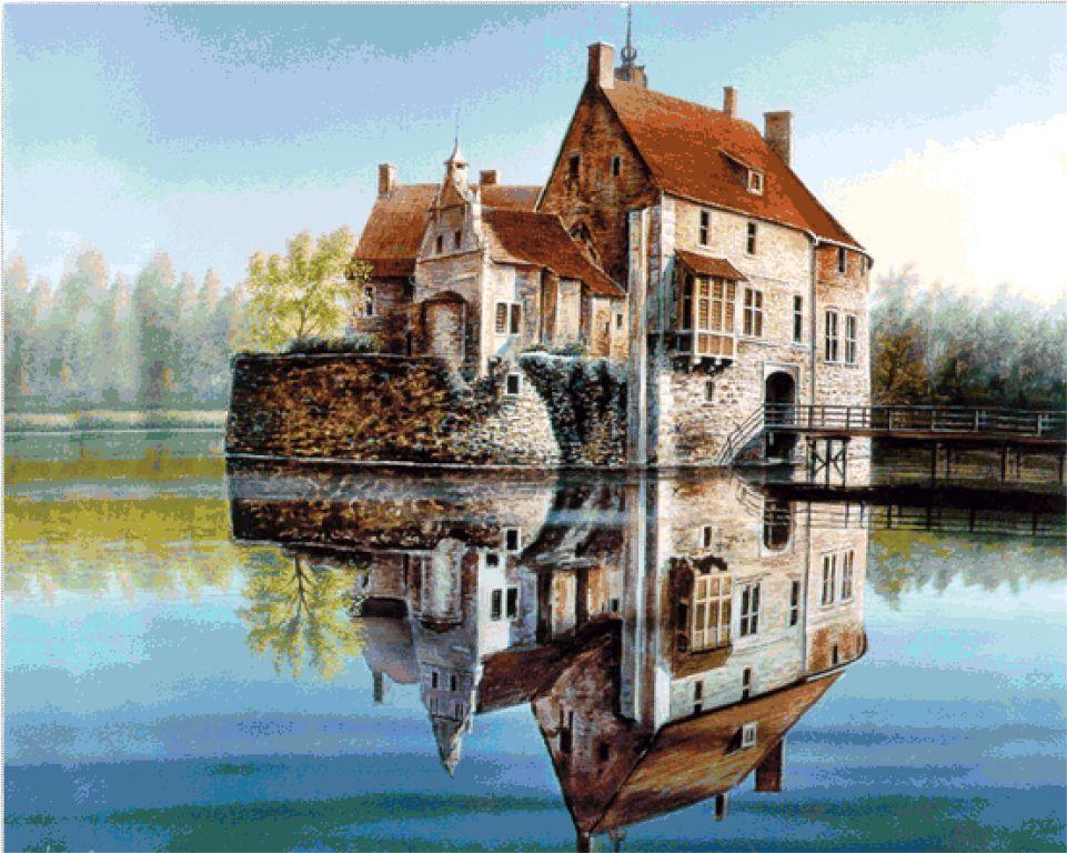 Вышивка крестиком: Замок (2)