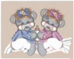 Схема вышивки: Симпатичные мишки — малыши