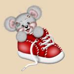 Вышивка «Мышонок в ботинке»