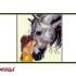 вышивка: Серая лошадь и девочка