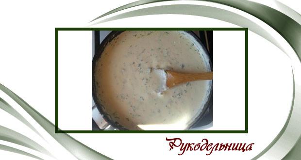 Сливочно-сырный соус - рецепт