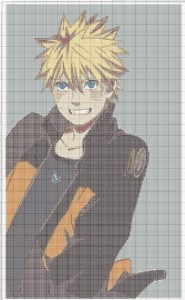 Схема вышивки аниме, бесплатно
