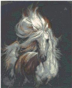 Вышивка Белая лошадь